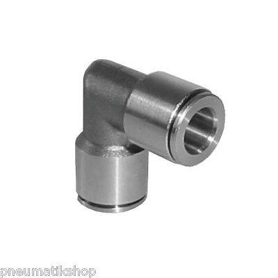 Steckverschraubung zylindrisch Pneumatik IQS Standard Winkel L alle Größen A2