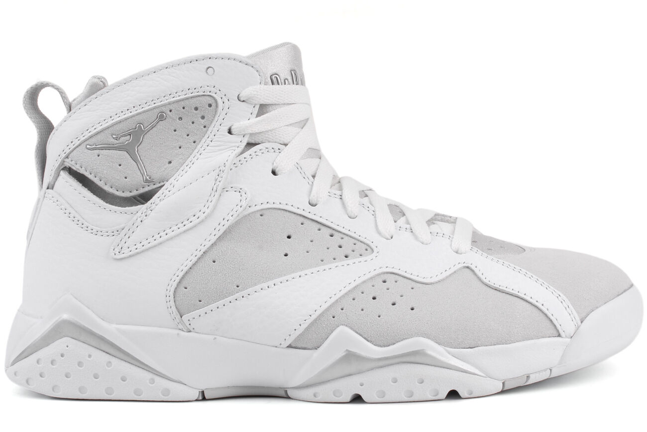 NEW Nike Air Jordan Retro 7 304775 120 Men's White Silver Basketball Sneakers
