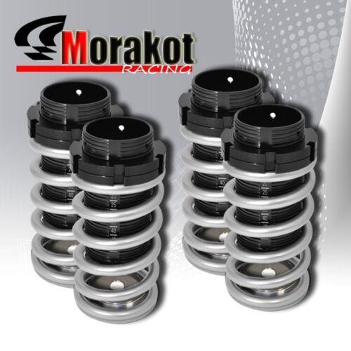90-97 Miata Mx-5 1.6L 1.8L Scale Coil Coilover Lowering Spring Dual Lock Silver