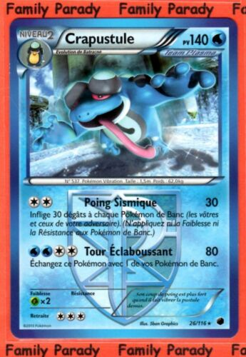 Crapustule 140pv 26//116 Glaciation Plasma Carte Pokemon Rare neuve fr