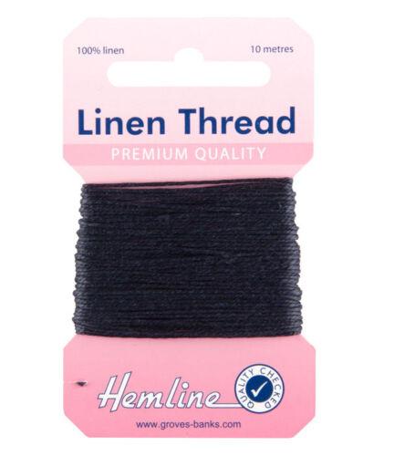 Hemline - Strong Linen Thread 10m Navy