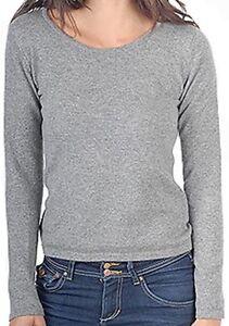 femmes 100 col gris XL à Pull cachemire Balldiri cachemire pour 2 rond plis et TqStnEAx