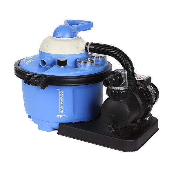 Motore con filtro a Sabbia 8,5 m3 h con prefiltro per piscine fino a 40 m³