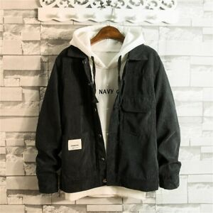 Domple Men Pockets Hooded Casual One Button Cape Long Jacket Coat