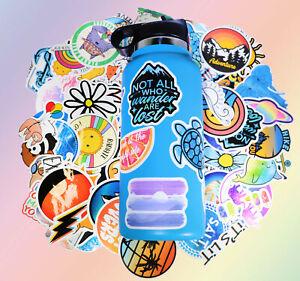Cute Vsco Stickers 115pc for Hydro Flask,Vsco Girls Stuff,Cute Waterproof Trendy