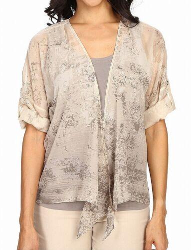 Zoe Womens Sweater Beige Size Small S Cardigan Convertible $128 003 Nic