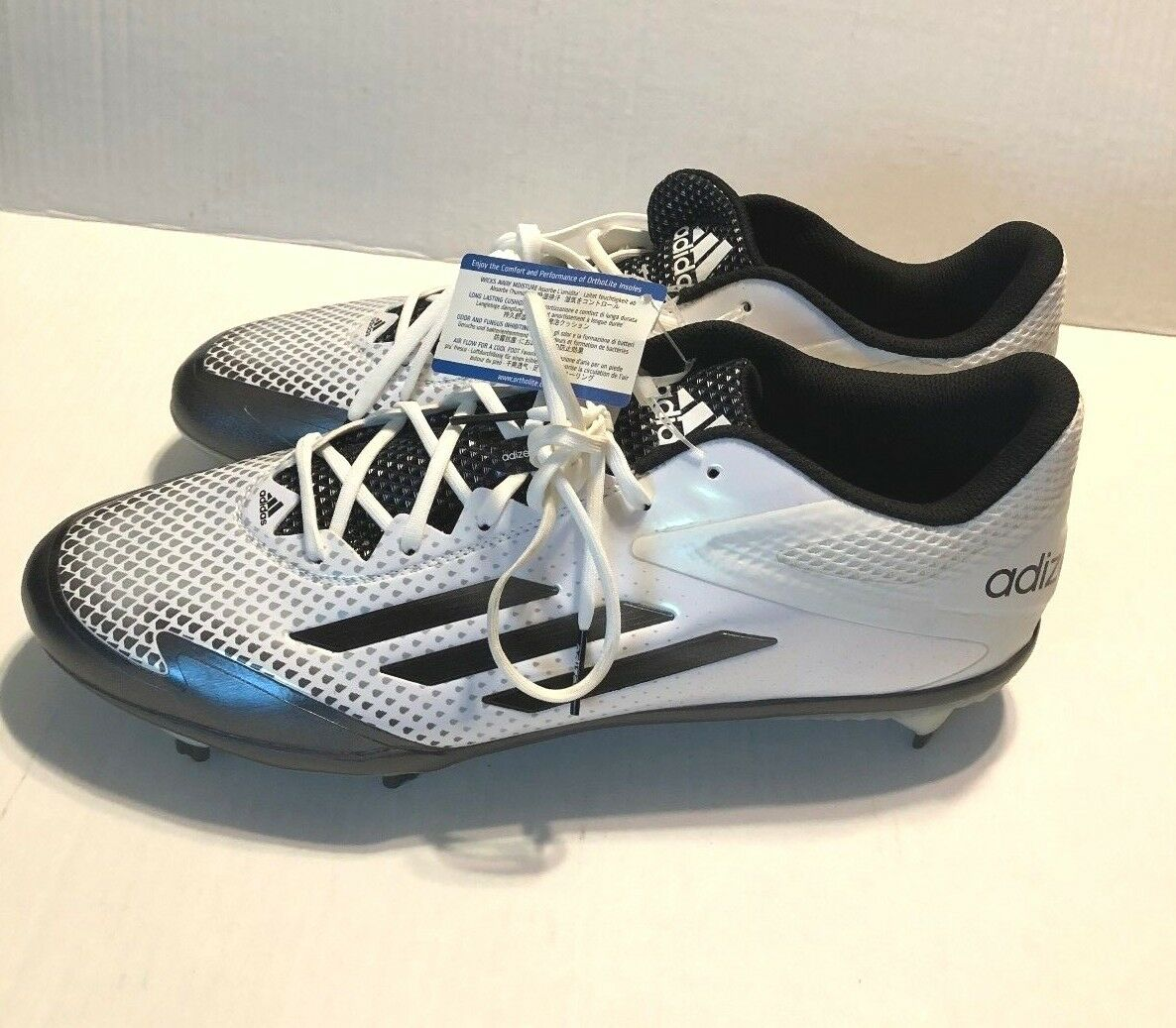 Adidas Adizero Afterburner 2.0 Metal Baseball Cleats White Gray Comfortable The latest discount shoes for men and women