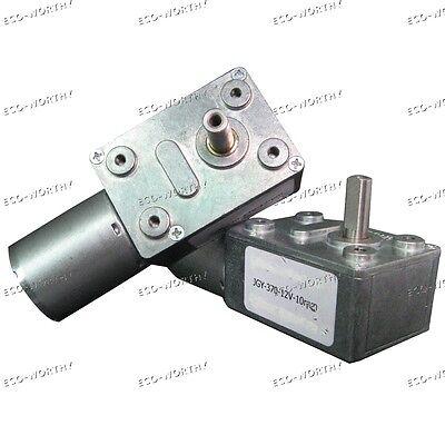 12V 10RPM High Torque Turbine Electric Worm Gear Speed Reducer Gearbox DC Motor