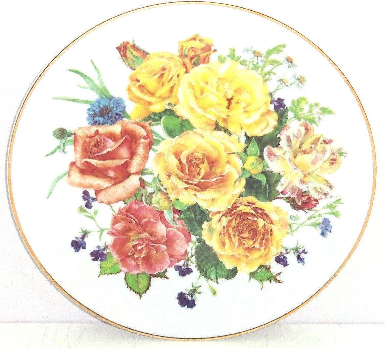 Majesté Fleurs Assiette Roses Collecteur Assiette Fleurs The Franklin Mint 8e940c