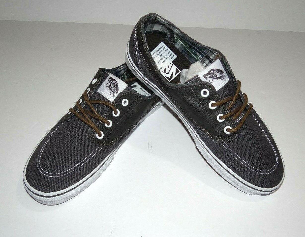 New Vans Mens Brigata Leather Plaid C & L Athletic shoes Size US 9 EU 42 UK 8