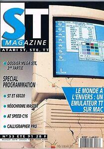 St Magazine N°53 Juil 1991 : Un Emulateur Tt Sur Mac
