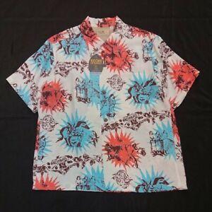 SUN-SURF-Special-Hawaiian-Shirt-GAUGUIN-WOODCUT-Size-L-KEONI-OF-HAWAII-Offwhite