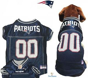 finest selection 26156 7cf7c Details about NFL Pet Fan Gear NEW ENGLAND PATRIOTS Dog Jersey for Dogs  XS-2XL XXL BIG SIZE