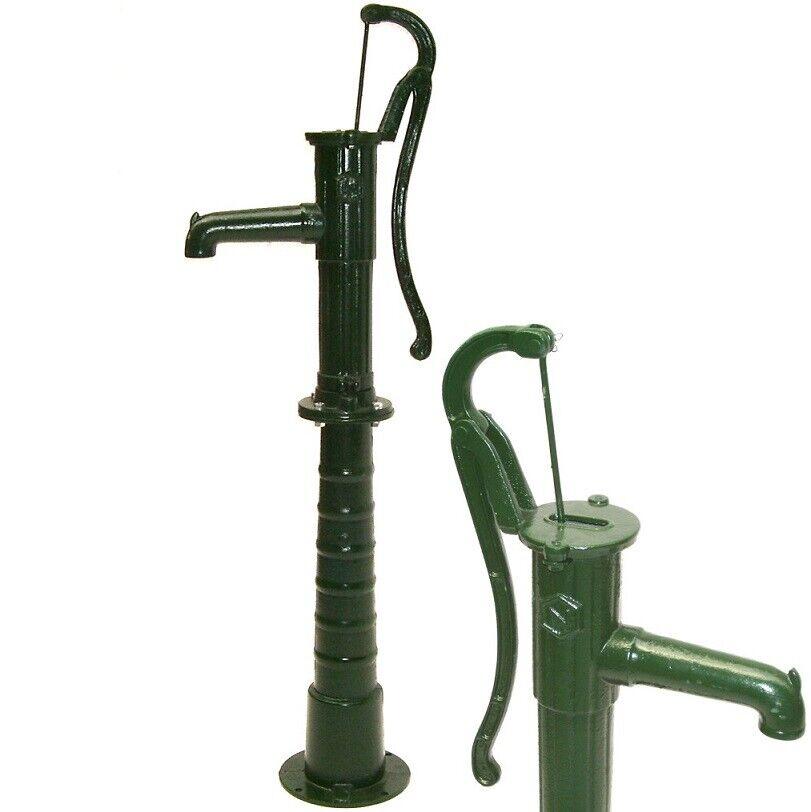 Garden Hand Water Pump Cast Iron Well Farm Irrigation Outdoor Ornament 55912/913