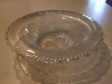 "VINTAGE DEPRESSION  FEDERAL GLASS CRYSTAL DIANA GLASS SCALLOP EDGE BOWL 12-1/4"""