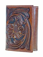 Nocona Mens Western Wallet Tri-fold Style Tooled