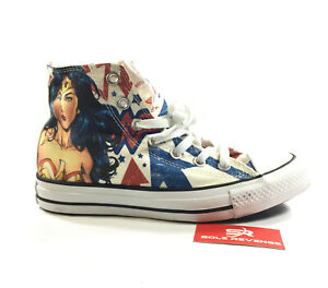 4424b6618f31 Mens 5 Womens 7 Converse WONDER WOMAN All Star Chuck Taylor DC ...