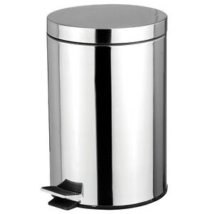 Stainless Steel 5 Liter Foot Pedal Kitchen Office Waste Bin Garbage Trash Can Ebay