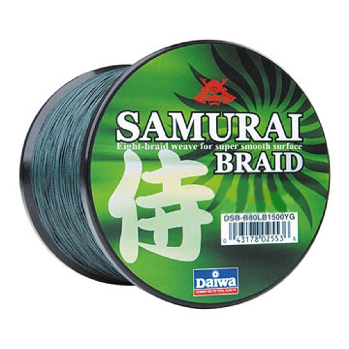 Daiwa Samurai Braided Line  verde 20lb Test, 1500 yards  DSBB20LBG