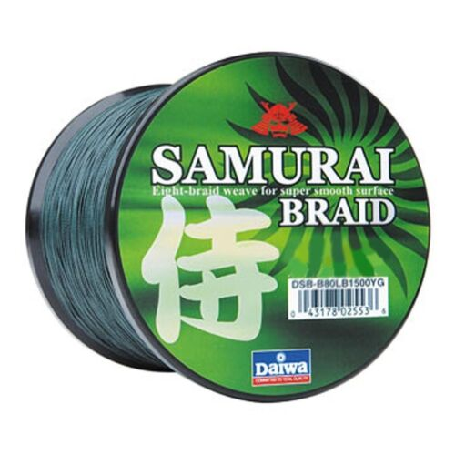 Daiwa Samurai Braided Line Green 30lb Test, 1500 yards DSBB30LBG