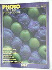 (PRL) PHOTO TECHNIK INTERNATIONAL 3/87 1987 MOYEN FORMAT MITTELFORMAT 120 6x6