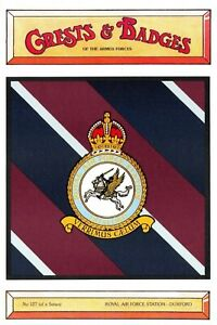 Postcard-RAF-Royal-Air-Force-Station-DUXFORD-Crest-Badge-No-127-NEW