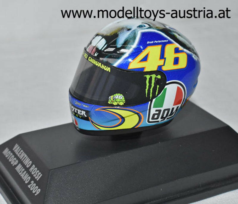 Helm AGV Valentino ROSSI 2009 Moto GP MISANO Esel 1 8 Minichamps