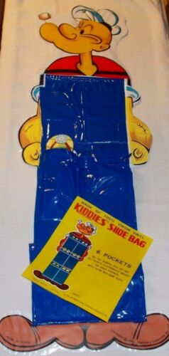 100/% VIRGIN VINYL POPEYE 6 POCKET SHOE BAG 1970/'S