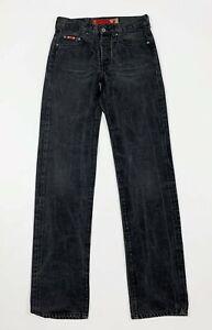 Guess-jeans-uomo-usato-slim-W28-tg-42-denim-nero-straight-boyfriend-T6425