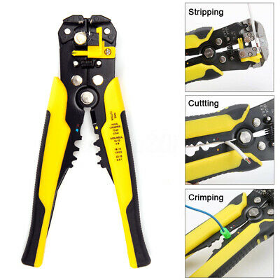 Self-Adjusting Wire Stripper Cutter Crimpers 10-24 AWG Multifunctional Tool