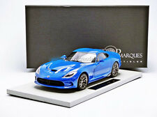 TOP MARQUES COLLECTIBLES 2014 Dodge Viper GTS SRT Racing Blue 1/18 Scale New!