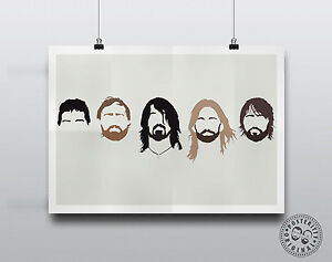 FOO-FIGHTERS-Minimalist-Hair-Poster-Silhouette-Music-Heads-Minimal-Grohl-Heads