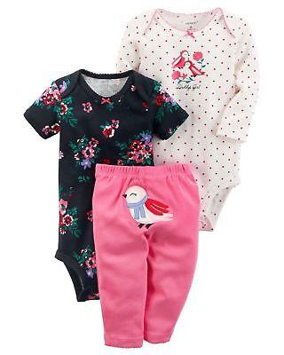 "Carters Baby Girls /""adorable/"" 3 Piece Bodysuit /& Pant Set Size Varies     R-3"