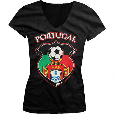 Portugal Soccer Crest - FPF Portuguese Pride Juniors V-neck T-shirt   eBay