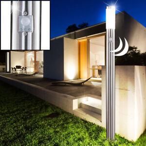 au en design edelstahl steh stand lampe sensor leuchte garten hof beleuchtung ebay. Black Bedroom Furniture Sets. Home Design Ideas
