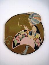 Delightful Vintage Art Deco Score Pad w/ Woman Wearing Turban *