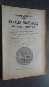 Folleto Anales Franceses De Chronometries N º 1 / 1E Trim. 1932 ABE