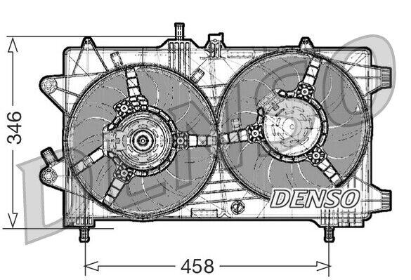 1x Denso Motore Ventola Raffreddamento DER09044