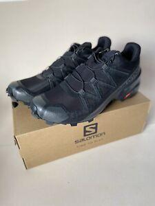 Salomon men's Speedcross 5 trail running size 11.5 Black (406840) 100% Authentic