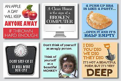 MAGNET Humor Clean House Sign Broken Computer