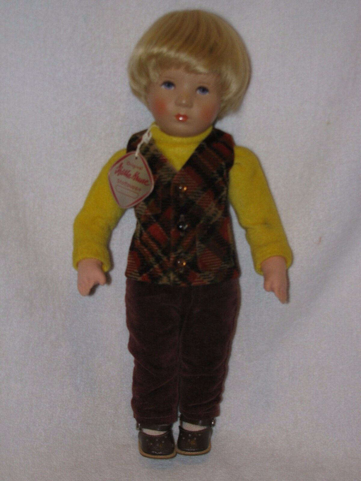 Adorable 14  Little Boy Doll By Kathe Kruse With Tag Stuffed Body