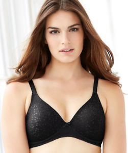 GLAMORISE BLACK THE PERFECT /'/'A/'/' WIRE-FREE T-SHIRT BRA SIZE US 52A NWOT