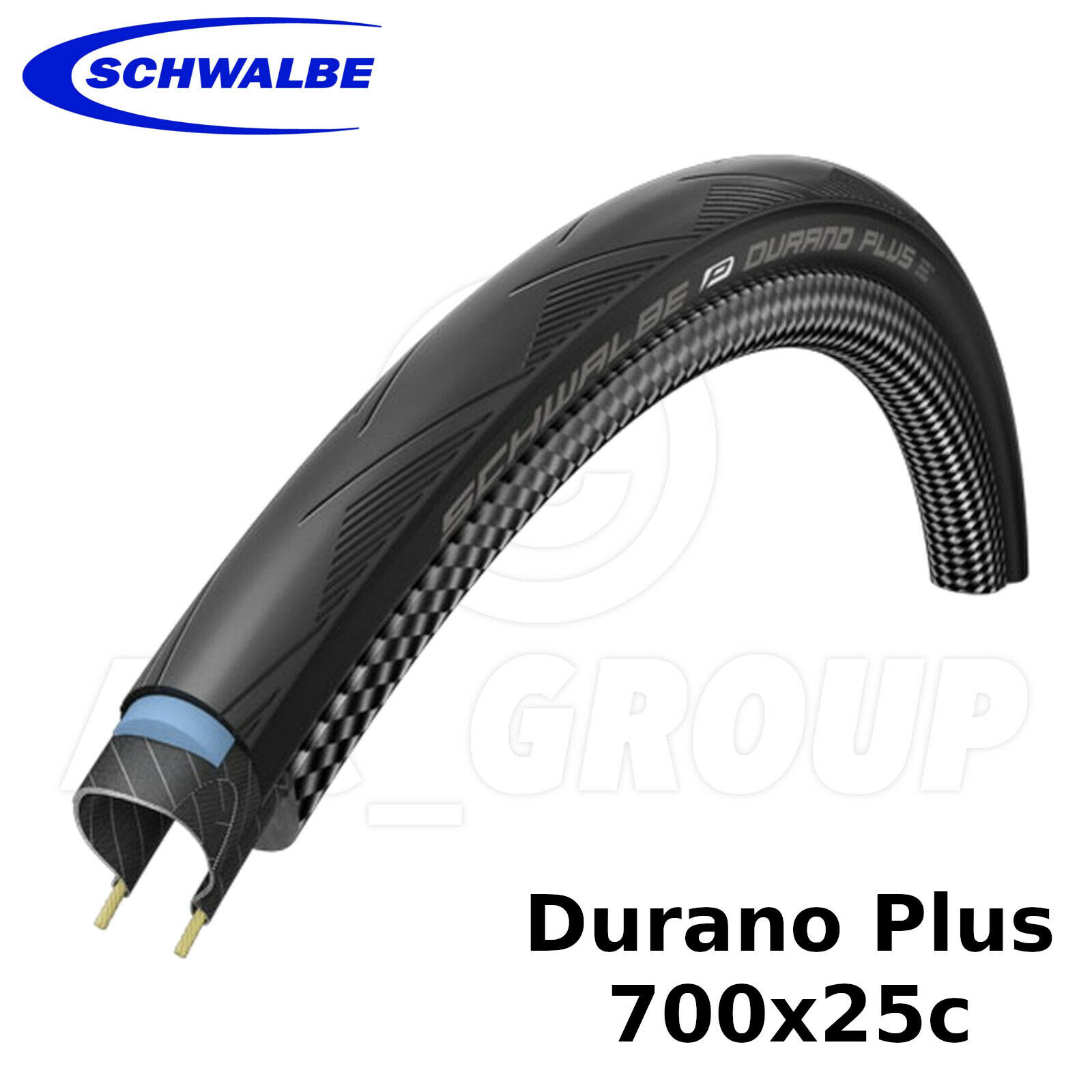 Schwalbe Durano Plus - 700x25c (25-622) - Smartguard, Filé , Pneu de Route Vélo