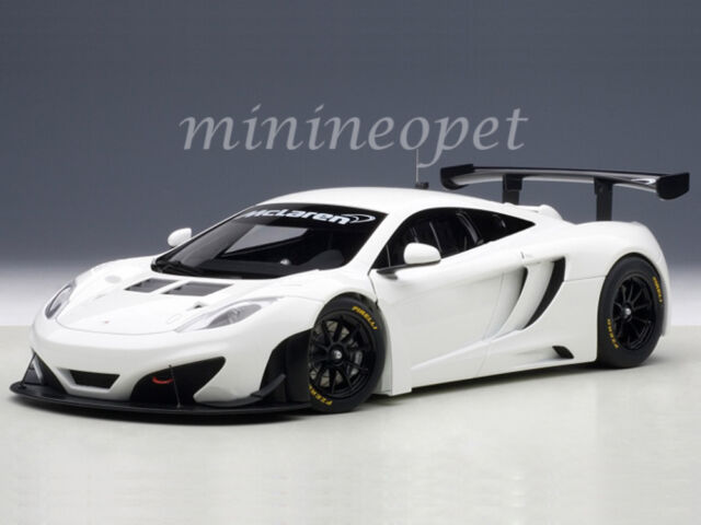 buy autoart 1/18 mclaren mp4-12c gt3 white 81341 diecast model