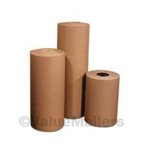 """24/"""" 40 lbs 990/' Brown Kraft Paper Roll Shipping Wrapping Cushioning Void Fill"""