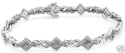 .70ctw Diamond Solid 14K White gold Bracelet