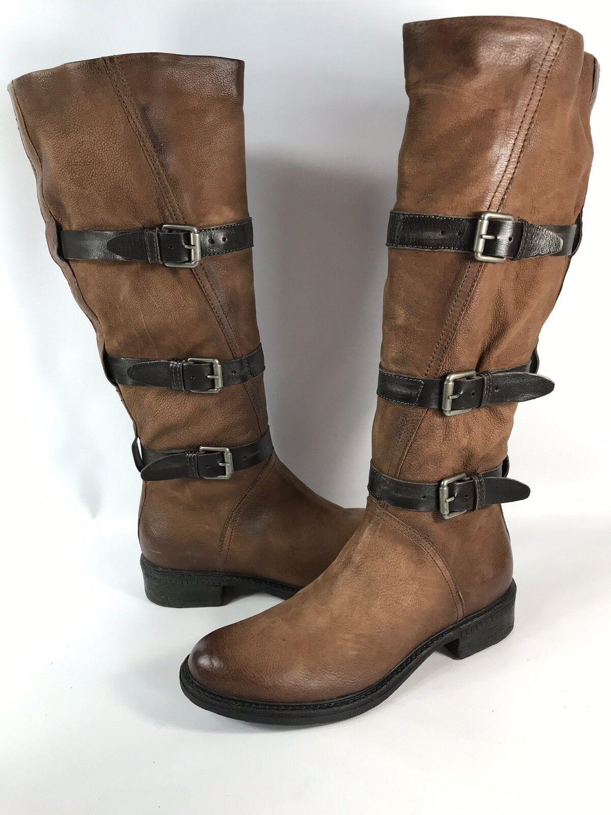 Miz Mooz Tall Leather Boots w  Buckle Detail EU 38 US 7 - 7.5