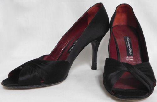 Der Black Silk Toe Leather Linde Van 38 Susan Peep Stiletto Satin Amazing Heels XIa5Ow