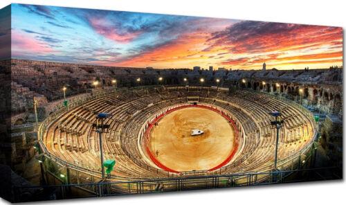 Quadri Moderni Stampa su Tela cm 100x50 120x60 Città Roma Colosseo Arena Arredo