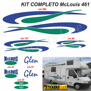 Kit-completo-adesivi-per-Camper-MC-LOUIS-GLEN-461-McLouis-Linea-Professionale